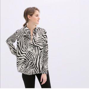 Zara Zebra Print Shirt